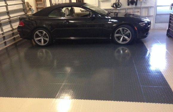 How can you protect the floor of the garage?