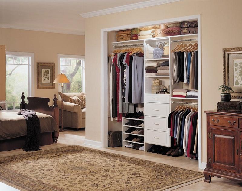 An open closet