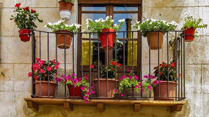 terrace in summer
